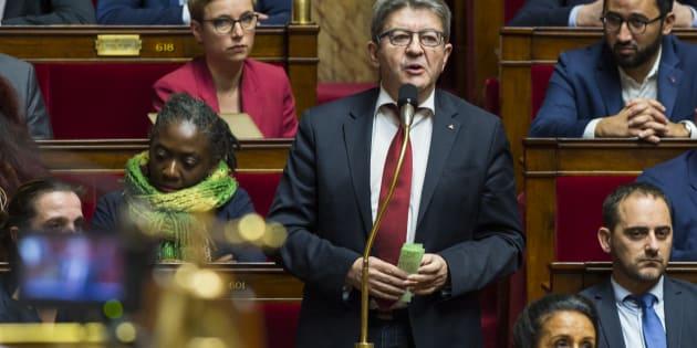 """À l'Assemblée, Mélenchon a ardemment défendu le """"RIC"""" cher aux gilets jaunes (Photo d'illustration prise le mercredi 12 décembre 2018)."""