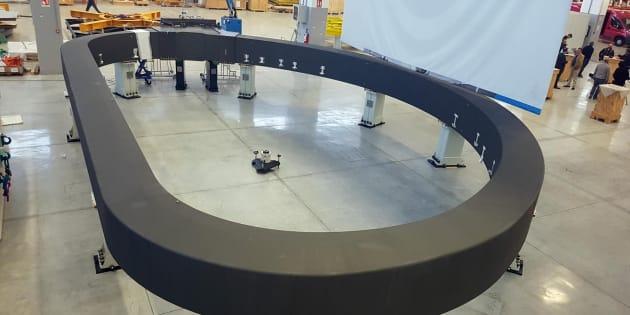 Il supermagnete pi� grande del mondo realizzato dalla Asg Superconductor. La Spezia, 20 novembre 2017. ANSA