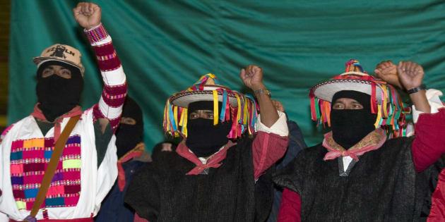 Miembros del Ejército Zapatista de Liberación Nacional (EZLN).
