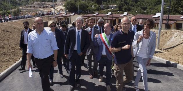 Sisma, Gentiloni ad Arquata:
