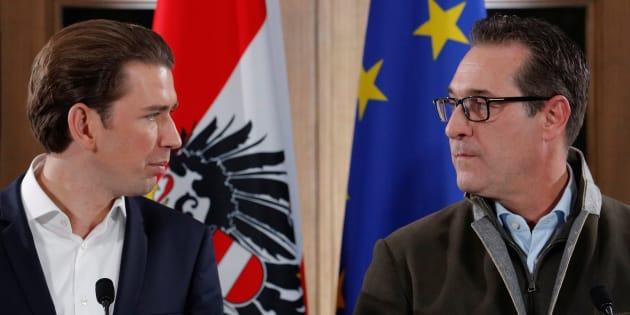 En Autriche, droite et extrême droite lancent leur coalition dans un lieu très symbolique