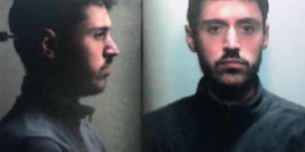 Mattia Del Zotto, arrestato per l'avvelenamento con il tallio dei familiari e la conseguente morte di tre di loro, i nonni paterni e una zia. Monza, 9 dicembre 2017. ANSA/