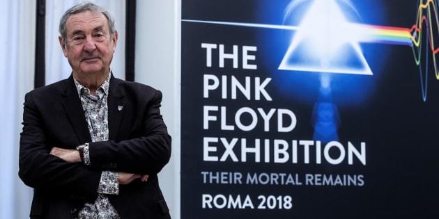 """Il batterista dei Pink Floyd Nick Mason, durante la conferenza stampa di presentazione della mostra """"The Pink Floyd Exhibition: Their Mortal Remains"""", Roma, 29 novembre 2017. ANSA/ANGELO CARCONI"""