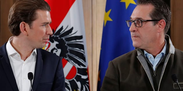 Governo nero blu in Austria, all