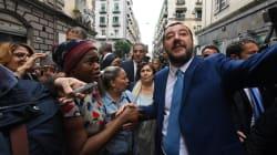 Salvini a Napoli promette ordine. La protesta dei centri sociali e degli