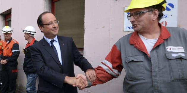François Hollande sur le site de l'usine ArcelorMittal à Florange, en septembre 2013.