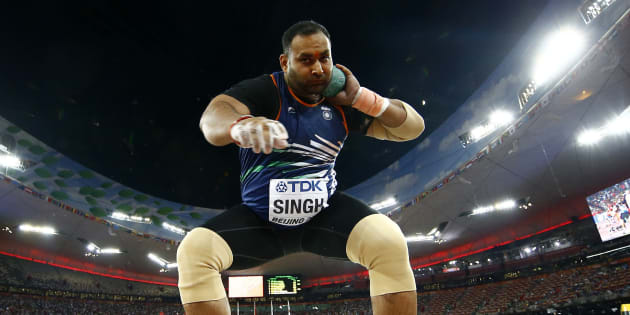 Inderjeet Singh of India competes in the men's shot put final during the 15th IAAF World Championships at the National Stadium in Beijing, China, August 23, 2015. REUTERS/Kai Pfaffenbach