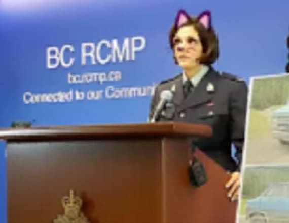 Cat filter adds twist to homicide announcement