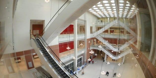 Vue intérieure du nouveau TGI de Paris dans le 17e.