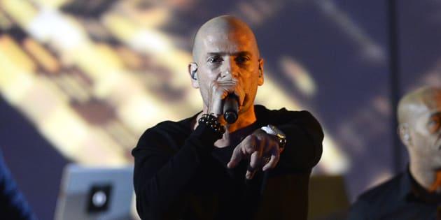 """IAM présente les paroles de son nouveau titre """"Orthodoxes""""  AFP PHOTO / BERTRAND GUAY"""
