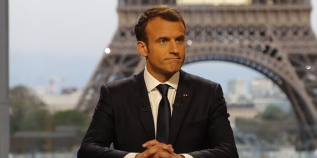 Tout ce qu'il manquait au kit de com' de Macron était une interview musclée, c'est fait!