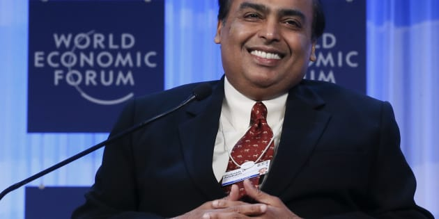 Mukesh Ambani Chairman and Managing Director of Reliance Industries attends the annual meeting of the World Economic Forum (WEF) in Davos January 25, 2013.                 REUTERS/Pascal Lauener (SWITZERLAND  - Tags: POLITICS BUSINESS)