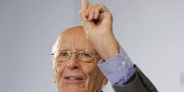 El filósofo Emilio Lledó en octubre de 2015.