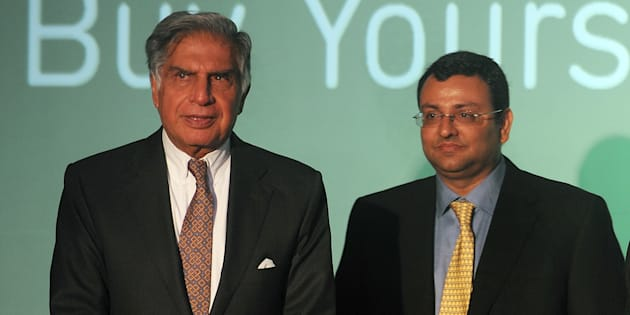 File photo of Ratan Tata (L) and Cyrus Mistry.
