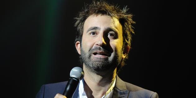 L'acteur Mathieu Madénian lors de la cérémonie de cloture du 16ème festival de la fiction télé à La Rochelle le 13 septembre 2014.
