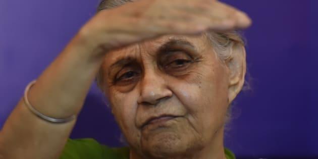 file photo of former Delhi Chief Minister Sheila Dikshit.