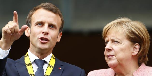 Le prix Charlemagne, remis à Macron par Merkel, cruel symbole de son échec face à l'Allemagne.