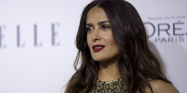 Actress Salma Hayek poses at the 22nd annual ELLE Women in Hollywood Awards in Los Angeles, California October 19, 2015.  REUTERS/Mario Anzuoni