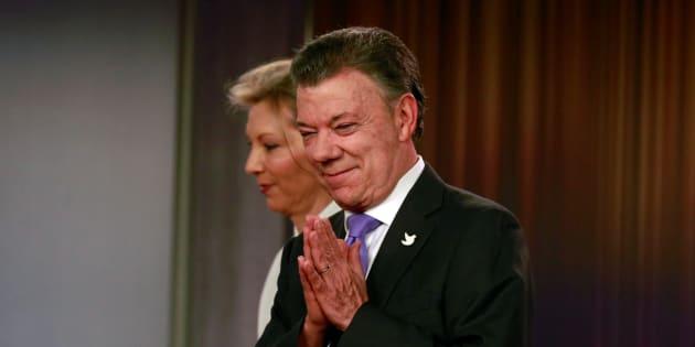 Juan Manuel Santos, Président colombien et sa femme