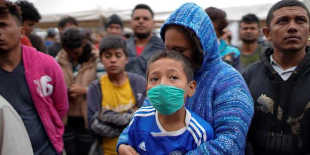 Migrantes centroamericanos en Piedras Negras.