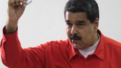 VIDEO: El 'numerito' de Nicolás Maduro al intentar