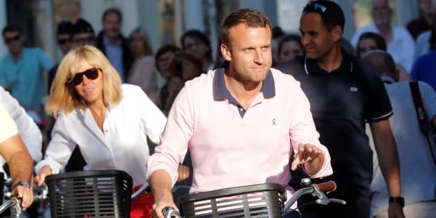"""Emmanuel Macron -ici au Touquet, le 17 juin 2017 prendra """"quelques jours de vacances"""" à partir de jeudi."""