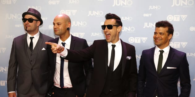 Hedley arrive at the 2015 Juno Awards in Hamilton, Ont., March 15, 2015. A flurry of claims from anonymous Twitter users have alleged inappropriate encounters with the band.