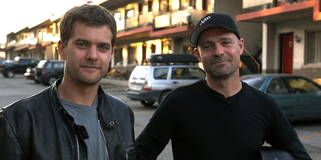 "Joshua Jackson, left, and Gord Downie, right, starred in the 2008 film, ""One Week."""