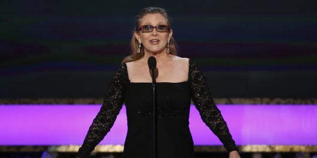 Carrie Fisher le 25 janvier 2015 à Los Angeles.
