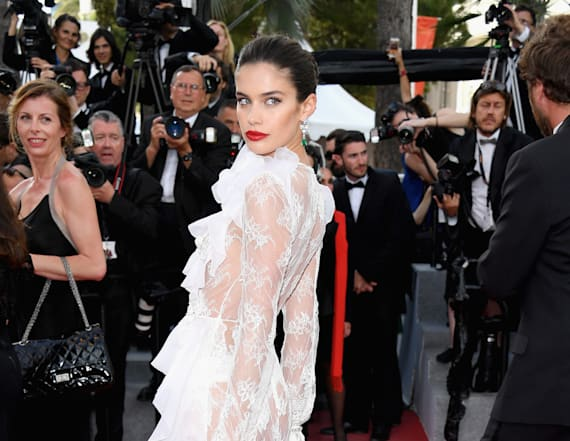 Model Sara Sampaio bares all in see-through look