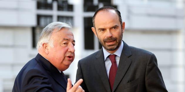 Le président du Sénat Gérard Larcher et le premier ministre Edouard Philippe.
