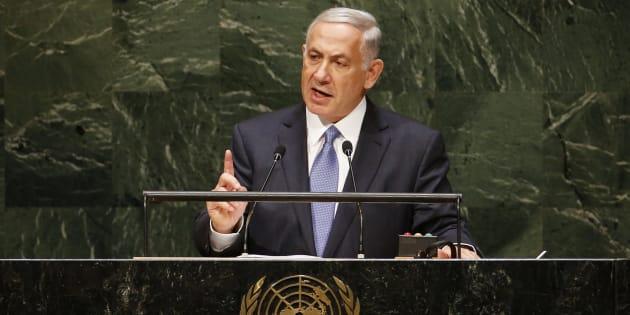Le premier ministre israélien Benjamin Netanyahu à l'assemblée générale des Nations Unies en 2014. REUTERS/Mike Segar