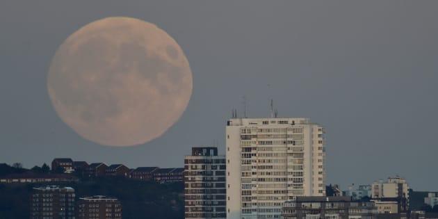 Une super Lune, en 2015.