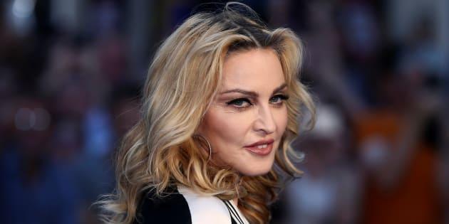 """Madonna à la première mondiale du film """"The Beatles: Eight Days a Week"""" à Londres le 15 septembre 2016."""