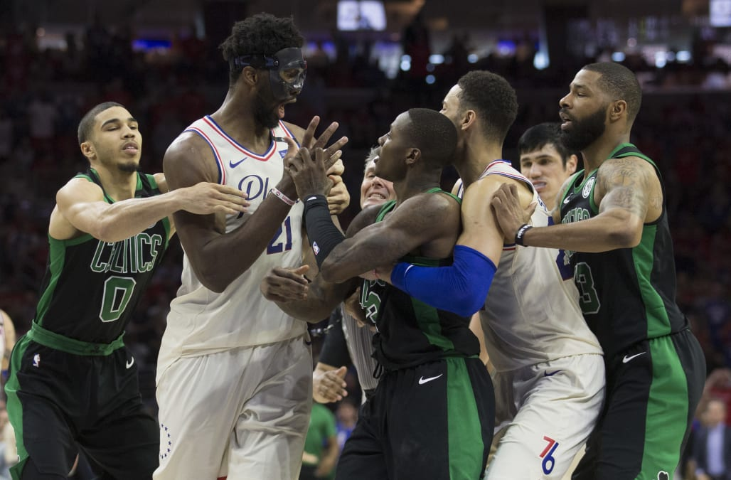 913b2393745 Joel Embiid takes on-court feud with Terry Rozier to media   Too bad he s  so short