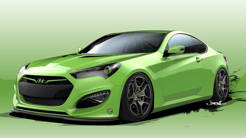hyundai genesis coupe joins the sema fray autoblog. Black Bedroom Furniture Sets. Home Design Ideas