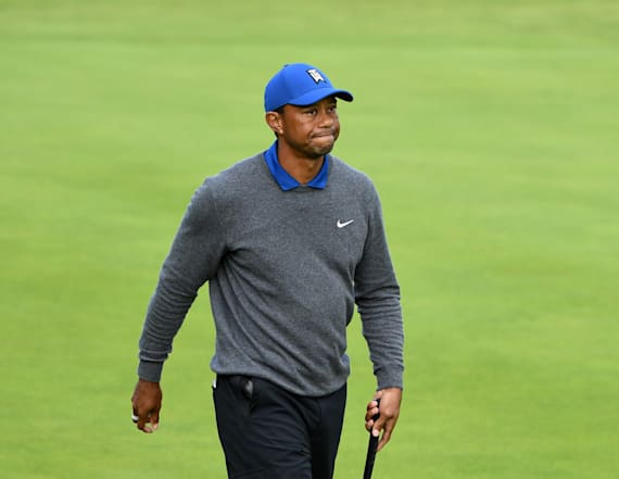 Tiger Woods plods to ugly first round at The Open