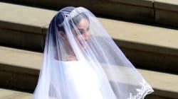 Tiara della Regina, velo lungo come Diana: ecco l'abito di Meghan, firmato