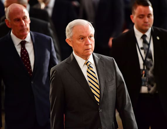 Trump says he's 'so sad over Jeff Sessions'