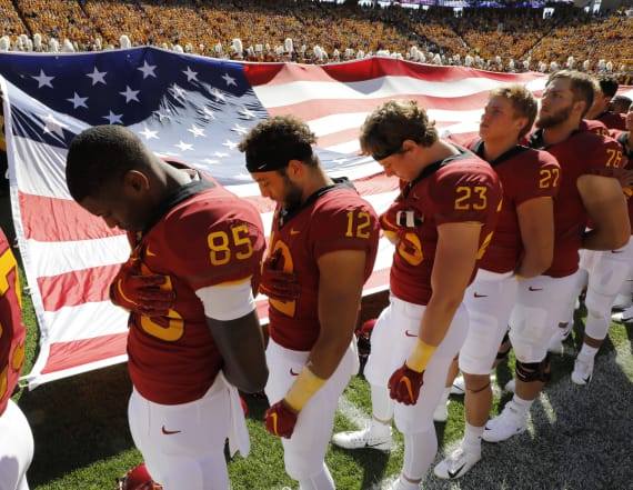 Iowa State honors slain golfer at football game