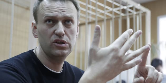 Russian opposition leader Alexei Navalny attends a hearing after being detained at the protest against corruption and demanding the resignation of Prime Minister Dmitry Medvedev, at the Tverskoi court in Moscow, Russia March 27, 2017.