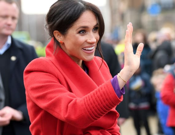 Meghan's bright look had a sweet connection to Diana