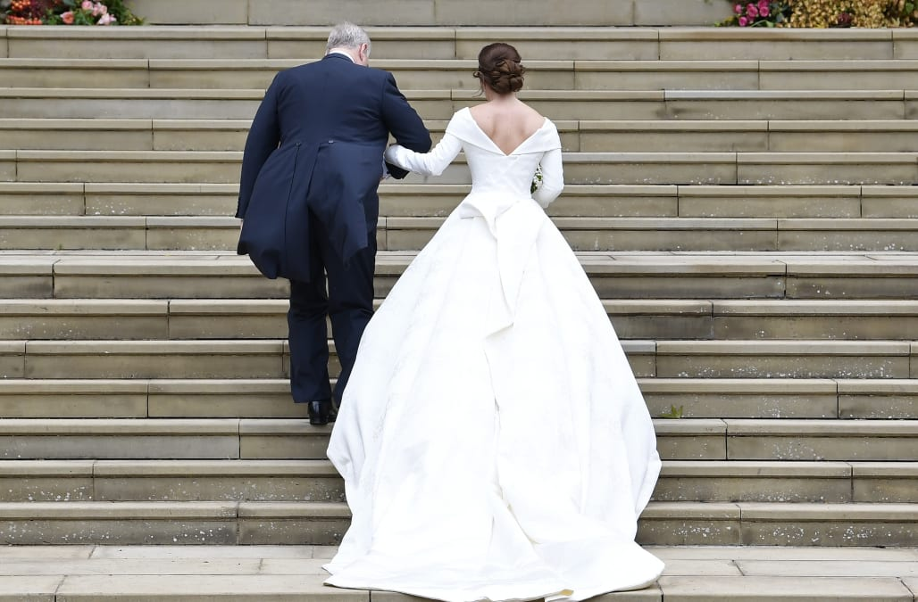 Princess Eugenie asked for her wedding dress to be cut low so she ...