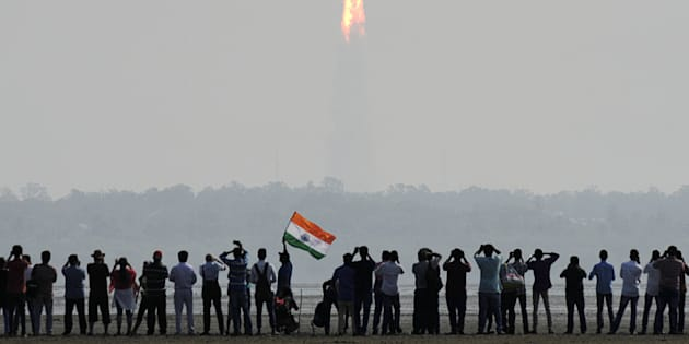 The Indian Space Research Organisation Polar Satellite Launch Vehicle was launched into space on Wednesday.