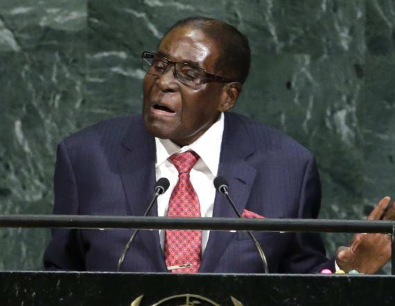 Zimbabwe's president calls Trump a 'gold Goliath'
