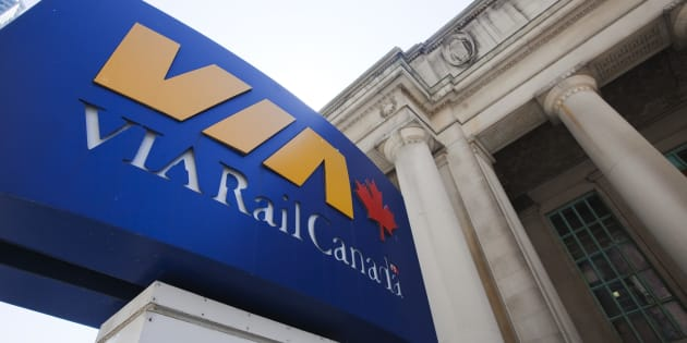 A Via rail sign is seen at Toronto's Union Station July 16, 2009.