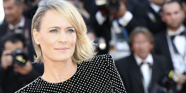 """Robin Wright est au Festival de Cannes pour présenter son premier court métrage, """"The Dark of Night""""."""