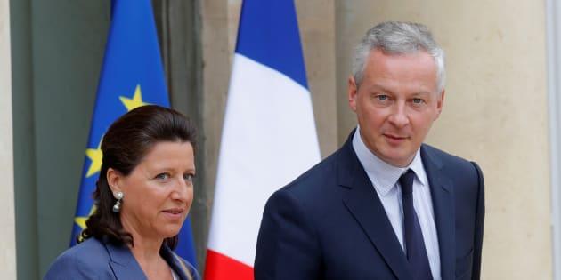 La ministre de la Santé Agnès Buzyn et le ministre de l'Economie Bruno Le Maire.