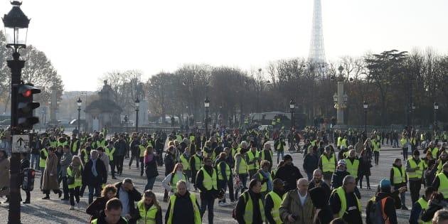 Le marathon télévisuel du Téléthon devait initialement être réalisé depuis la place de la Concorde (Photo prise le 17 novembre 2018).