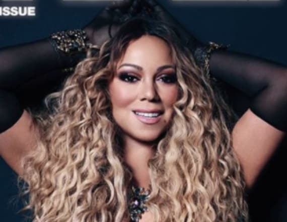 Mariah Carey poses topless Paper magazine